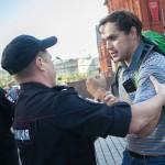 На акцию против войны в Украине в Москве вышел ОДИН человек — фоторепортаж