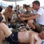 На пляжах Северной Кореи