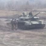 Появились первые фото новейшего танка «Оплот» в зоне АТО