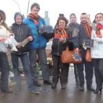 Группа пропутинских вандалов осквернила место гибели Немцова