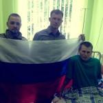 Российские добровольцы, воюющие на стороне Украины проведали пленных спецназовцев