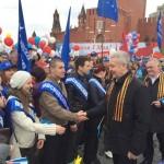 Руководство Москвы вместо георгиевских ленточек переходит на «георгиевские шарфы»