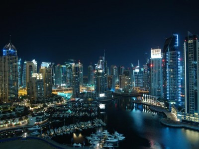 Dubai-Marina-at-night