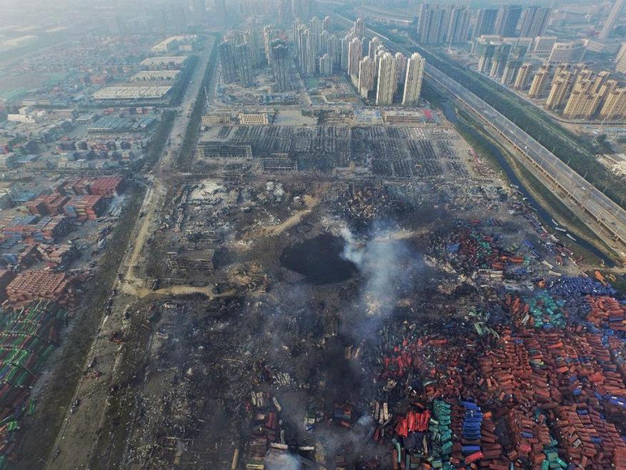 На взорвавшемся складе в Тяньцзине хранилось 700 тонн цианида натрия