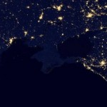 Ночной Крым после взрыва ЛЭП сняли из космоса
