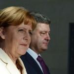 Меркель-Порошенко: Санкции будут продолжены пока Россия не уйдет из Украины