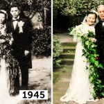 98-летние супруги воссоздали день своей свадьбы через 70 лет