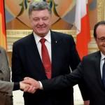 Меркель, Олланд и Порошенко договорились о продлении санкций против России