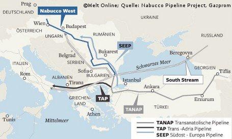 СМИ: в Греции начинается строительство Трансадриатического газопровода