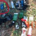 По информации ФСБ, «украинские диверсанты» готовились совершать теракты резиновыми тапками. ФОТО