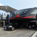 Дорожные испытания надземного автобуса прошли в Китае