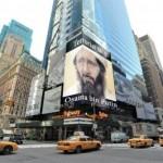 «Осама бен Путин» — В Нью-Йорке повесили огромный бигборд и вывесили плакат на мосту