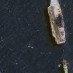 Российский авианесущий крейсер «Кузнецов» взяли на буксир