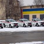 ЮНИСЕФ и Япония передали украинским спасателям 12 авто для разминирования
