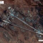 Пентагон продемонстрировал спутниковый снимок атакованной в Сирии авиабазы