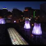 На Майдане заработали светомузыкальные фонтаны