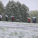 Москву в первый день лета засыпало снегом