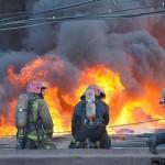На РФ продолжает гореть склад с авиационно-ракетнымы боеприпасами (видео)