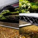 В Китае с помощью роботов печатают пешеходные мосты