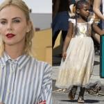 Шарлиз Терон раскритиковали за то, что она одевает сына в платья принцесс