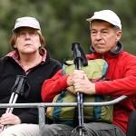 Ангелу Меркель папарацции нашли на отдыхе с мужем в горах
