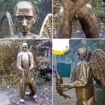 В России скульптор-псих выковал памятник Путину-гибриду