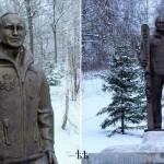 Культ личности — Путину начали ставить в России памятники