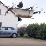 В США блогеры разработали летающую ванну (видео)