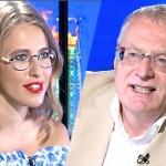 Жириновский во время дебатов на ТК «Россия 1″ орал матом на Собчак
