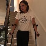 Виктория Бекхэм сломала ногу (фото)