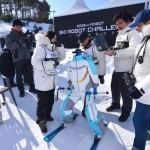 На Олимпиаде прошли соревнования роботов-лыжников (видео)