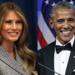 Фото Мелании Трамп и Барака Обамы стал интернет-мемом