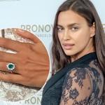 Ирина Шейк показала обручальное кольцо с гигантским изумрудом