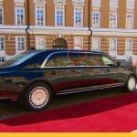 Новый автомобиль Путина на инаугурации начал разваливаться (фото)