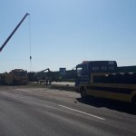 «Сладкая» авария в Польше — на трассе опрокинулась цистерна с 12 тоннами жидкого шоколада