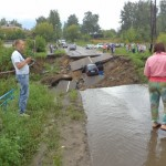 В Пермском крае дорога провалилась под землю на 18 метров