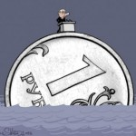 Курс доллара — рубль обваливается после «прямой линии» Путина