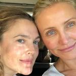 «Старость не радость» — 43-летняя Дрю Бэрримор и 45-летняя Кэмерон Диас показали селфи без макияжа