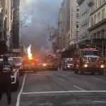 Взрыв в Нью-Йорке разрушил перекресток (фото)