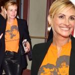 Ставшая блондинкой Джулия Робертс посетила бродвейский мюзикл по мотивам фильма «Красотка»