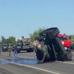 В Курске на параде к годовщине Курской битвы перевернулся танк
