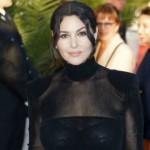 Весьма  толстая Моника Беллуччи вышла на красную дорожку кинофестиваля в полупрозрачном платье