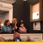 Картина Бэнкси самоуничтожилась встроенным в раму шредером после продажи на аукционе Сотбис
