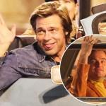 Брэд Питт и Леонардо ДиКаприо веселятся на съемках фильма Квентина Тарантино: новые фото