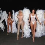 Ким Кардашьян и ее сестры нарядились «ангелами» Victoria's Secret на Хеллоуин (фото + Видео)