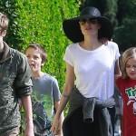 Анджелина Джоли вернула своих детей в Лос-Анджелес