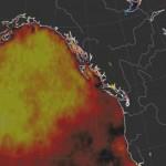 На Аляске замечено повторное появление региона аномально теплой воды