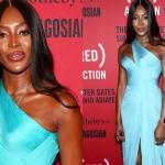 Наоми Кэмпбелл удивила своим телом в откровенном голубом платье