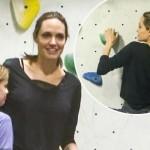Анджелина Джоли занялась скалолазанием  (фото)