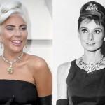 Леди Гага появилась на «Оскаре» с редчайшим бриллиантом, который до нее носила Одри Хепберн